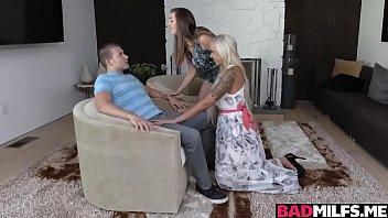 supah-hot mommy nina and dauhter lexi threeway with neighbor