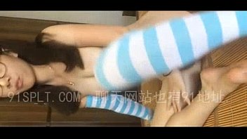 cute Chinese girl with glasses masturbate