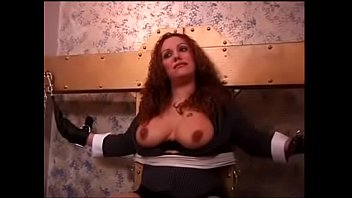 big tits redhead bound before getting her tits teased