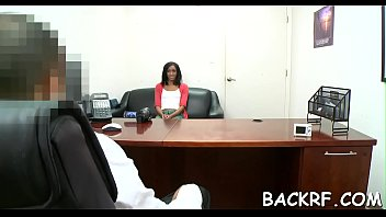 Gorgeous babe sucks cock of her agent as a casting procedure
