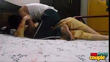 Teen indian couple enjoying in a hotel