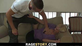 Guy punishes slutty blonde bitch rough