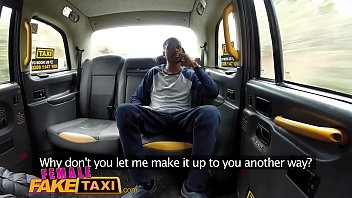 Female Fake Taxi Back seat blowjob from busty blonde driver for lucky stud
