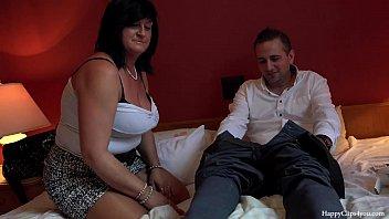 George and his friend'_s mom taboo session - footjob handjob