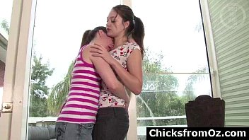 inexperienced aussie teenager lesbos smooching and.
