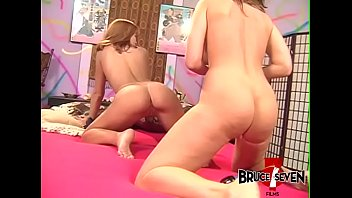 Beautiful babe roughly ass drilling busty MILF with dildo