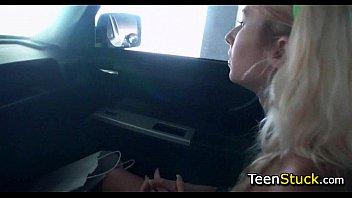 blonde teen needs a ride home
