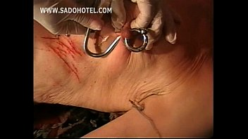 domme shocks puffies and use a meat hook.