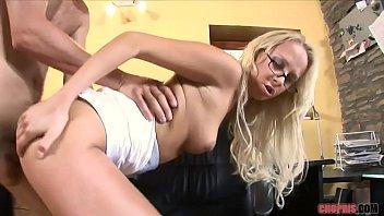 Blonde MILF in High Heels Rides Dude the Sofa  Porn