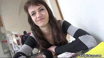 Sexy Amateur European Girl Sucking Dick for Cash In Public 17
