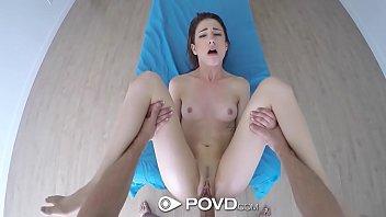 POVD Massage big dick punishment for brunette Kristen Scott