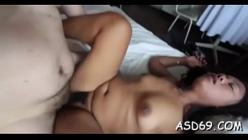 chinese female with a lil assets enjoys all.