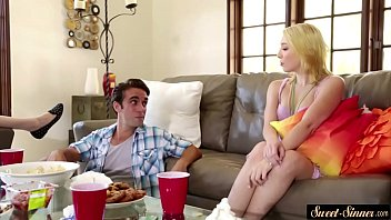 Young babe pounded in many poses by stepbro