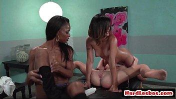 Big Tit Sexy Lesbian Babes Going Hardcore Down 30
