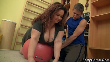 meaty-chested chunky stunner entices sport tutor