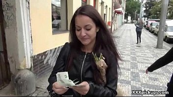 Cutie amateur teen euro whore suck cock in public for cash 17