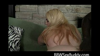 beautiful silver-blonde plumper gives unbelievable dt blowing large.