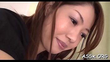 Japanese sweetheart with butt plug enjoys rough gangbang