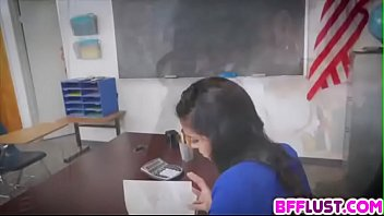 After School Detention Gets Freaky As Lesbian Students Jump Teacher