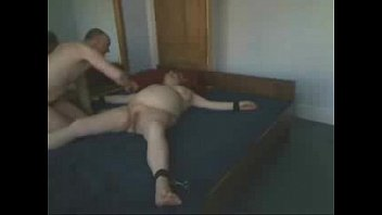 using my servant older mega-bitch trussed on sofa inexperienced