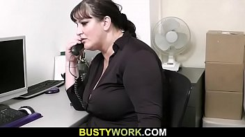humungous breasts assistant satiates her chief
