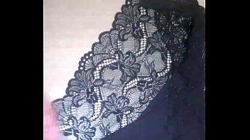 spunking over wife039_s dark-hued lace undies