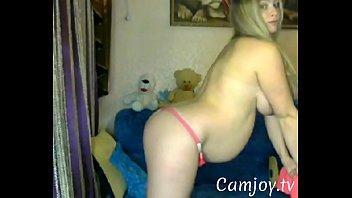 preggie cougar does striptease on web.