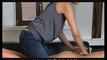 Lesbea Teen sex after oil massage