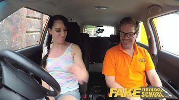 faux driving school hotwife learners taut snatch crammed.