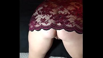 Real Amateur Wife Showing In Lingerie And Fingering Ass And Pussy