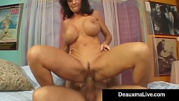 texas cougar deauxma rockets from her creaming crimson-hot vag