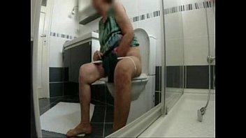love my aged mum at toilet.